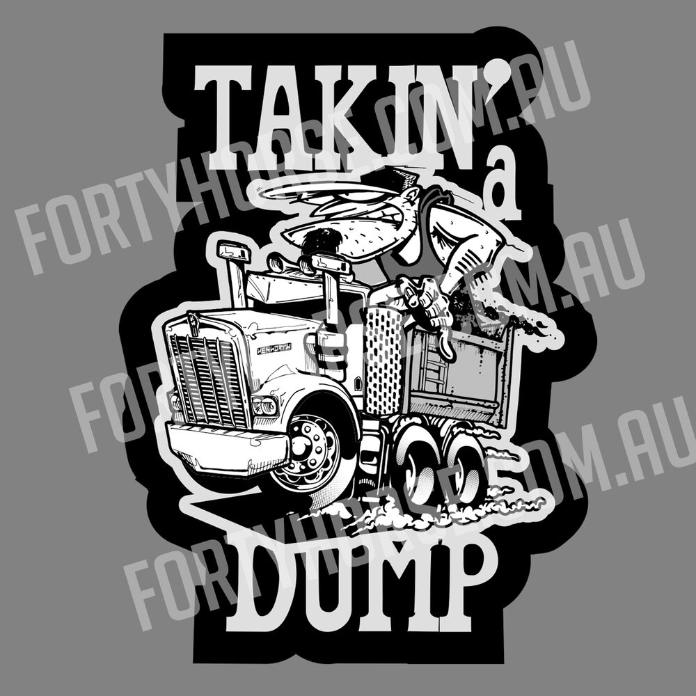 Trucks Vinyl Stickers - Kenworth Takin' a Dump | eBay