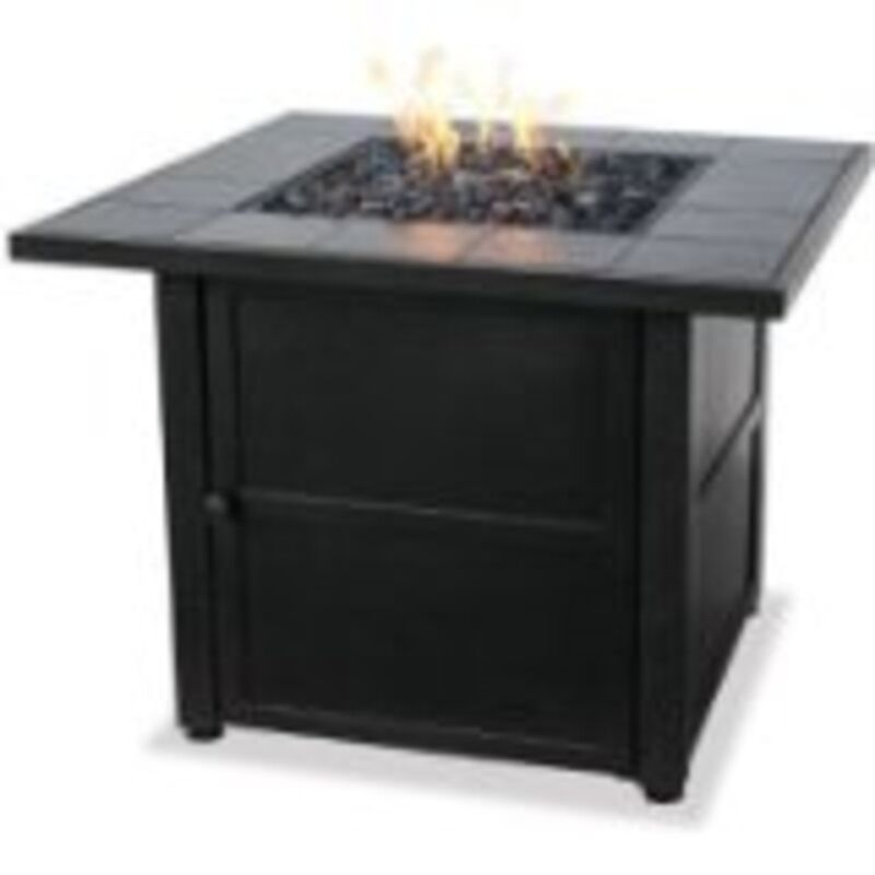 Uniflame Lp Gas Outdoor Firebowl W Slate Tile Mantel