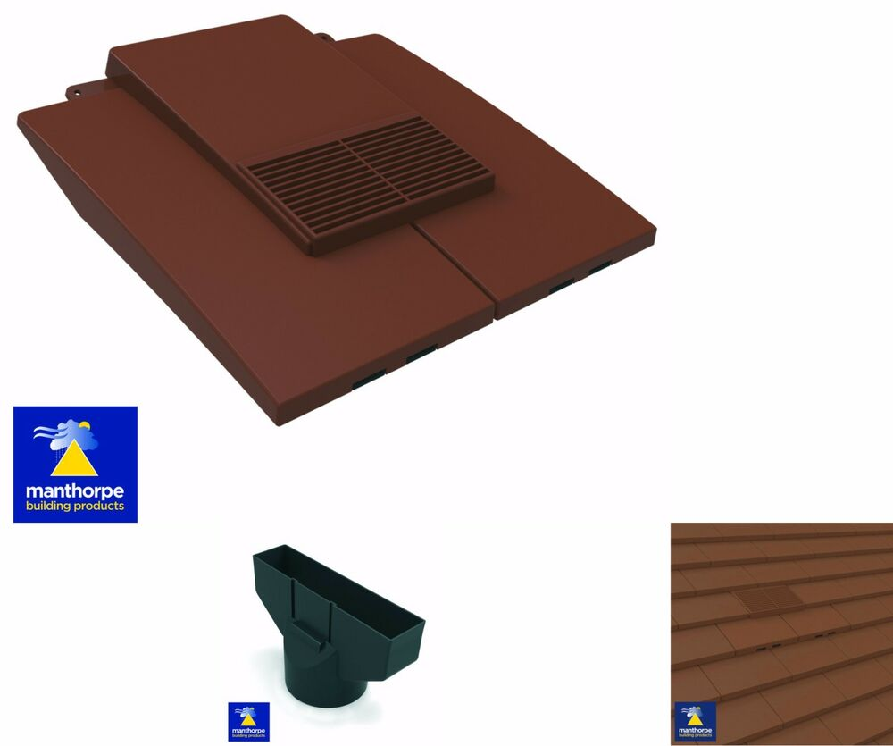 plain in line roof tile vent clay concrete tile pipe