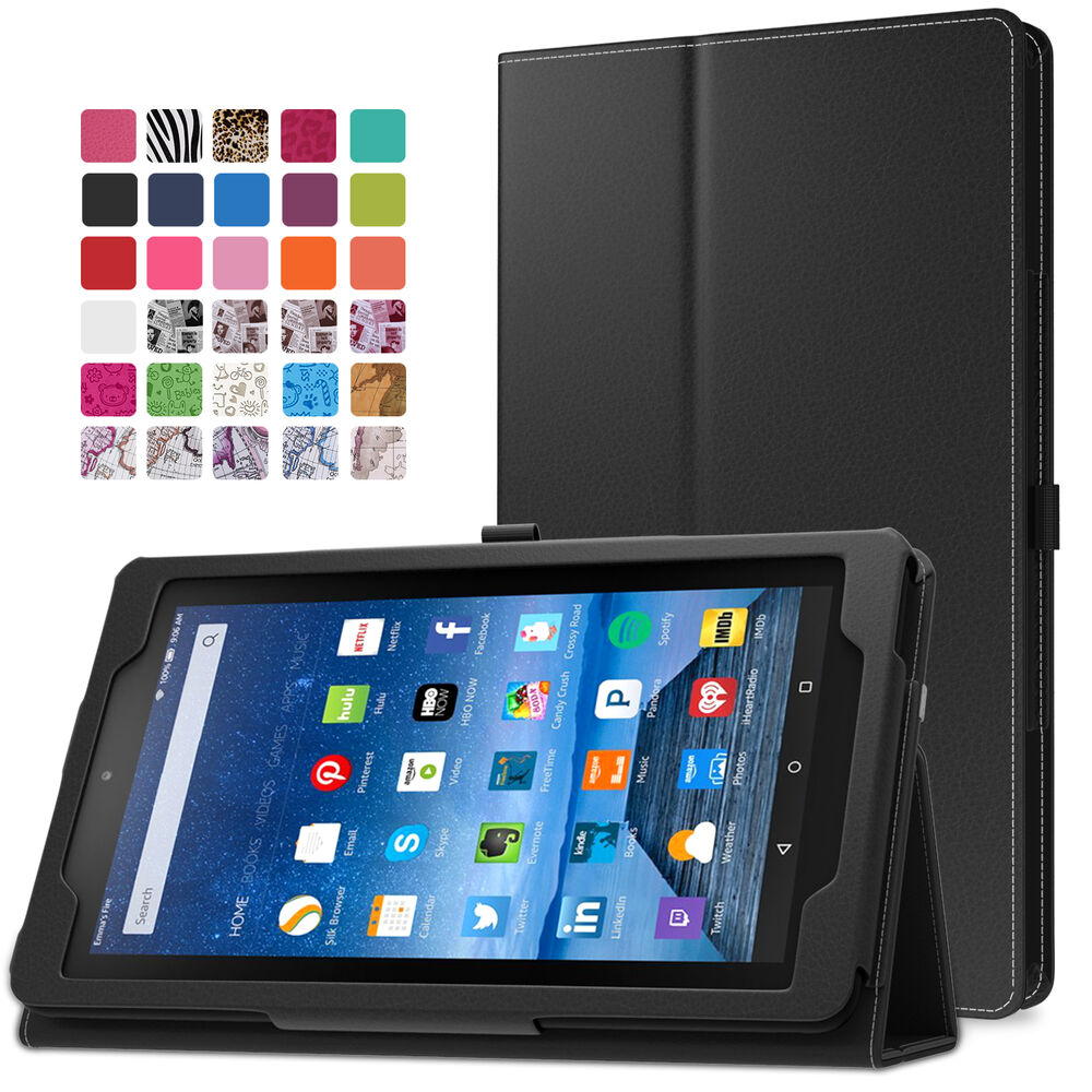 Moko slim folding cover case for amazon fire 7 tablet 5th for Casa amazon