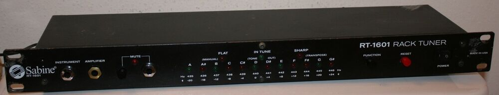 Sabine Rt 1601 Rack Tuner With 9v Ac Adapter Good Shape