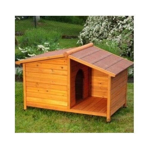 Wooden dog kennel winter warm house weather proof shelter