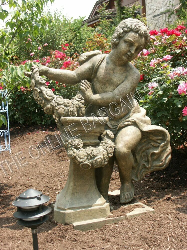 Granite Lawn Ornaments : Frontgate garden pool yard statue figure resin fiberglass