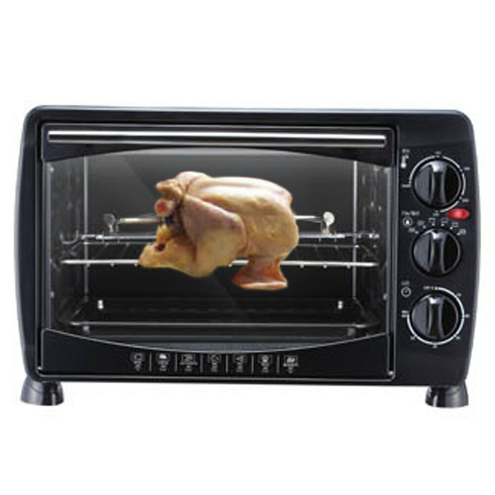 Mini Countertop Stove : PN PNEO-18 Electric Mini Countertop Oven Rotisserie For Barbecue ...