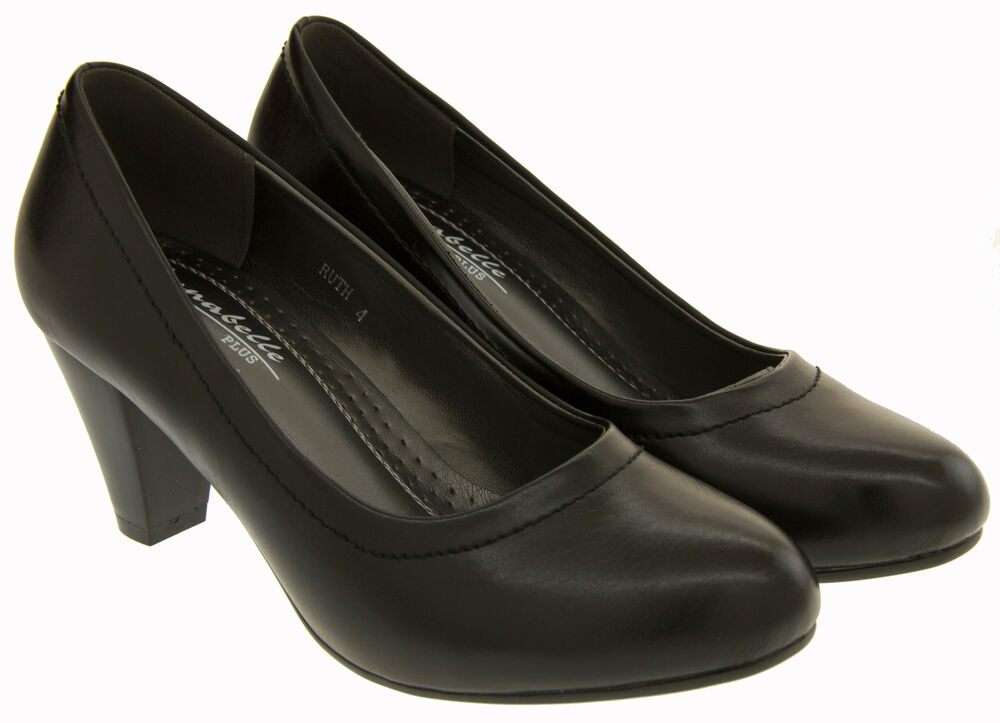 Black Wedge Court Shoes Size