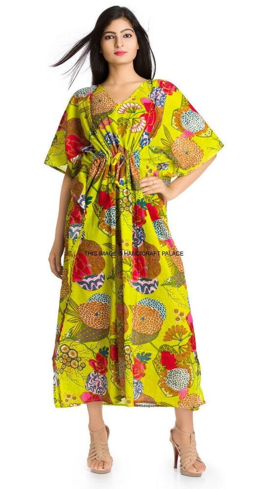 Maternity Wear Long Kaftan Floral Print Caftan Plus Size ...