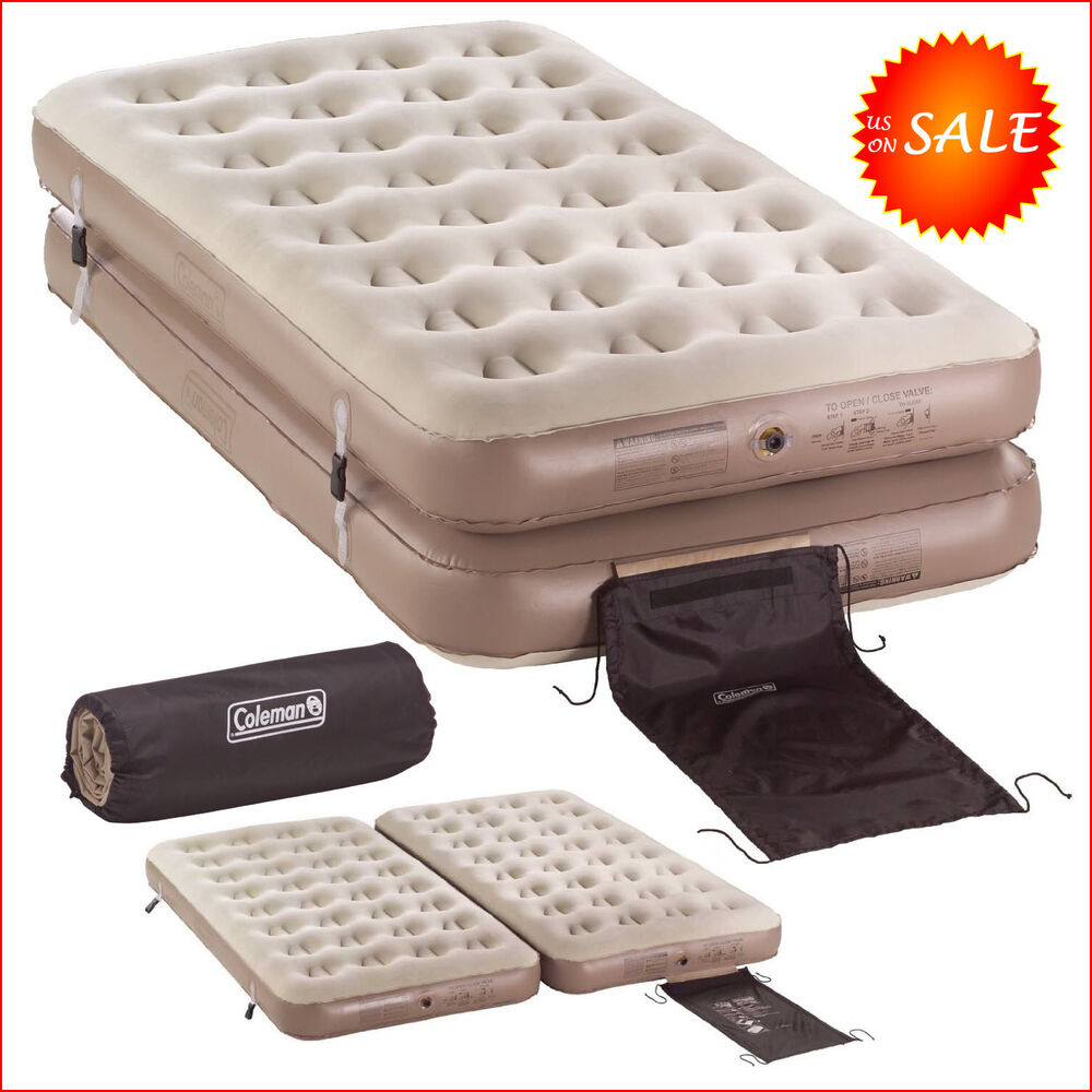 Twin Beds Inflatable Mattress Air Bed Pump Camping Sleeper 1 King Size Coleman Ebay