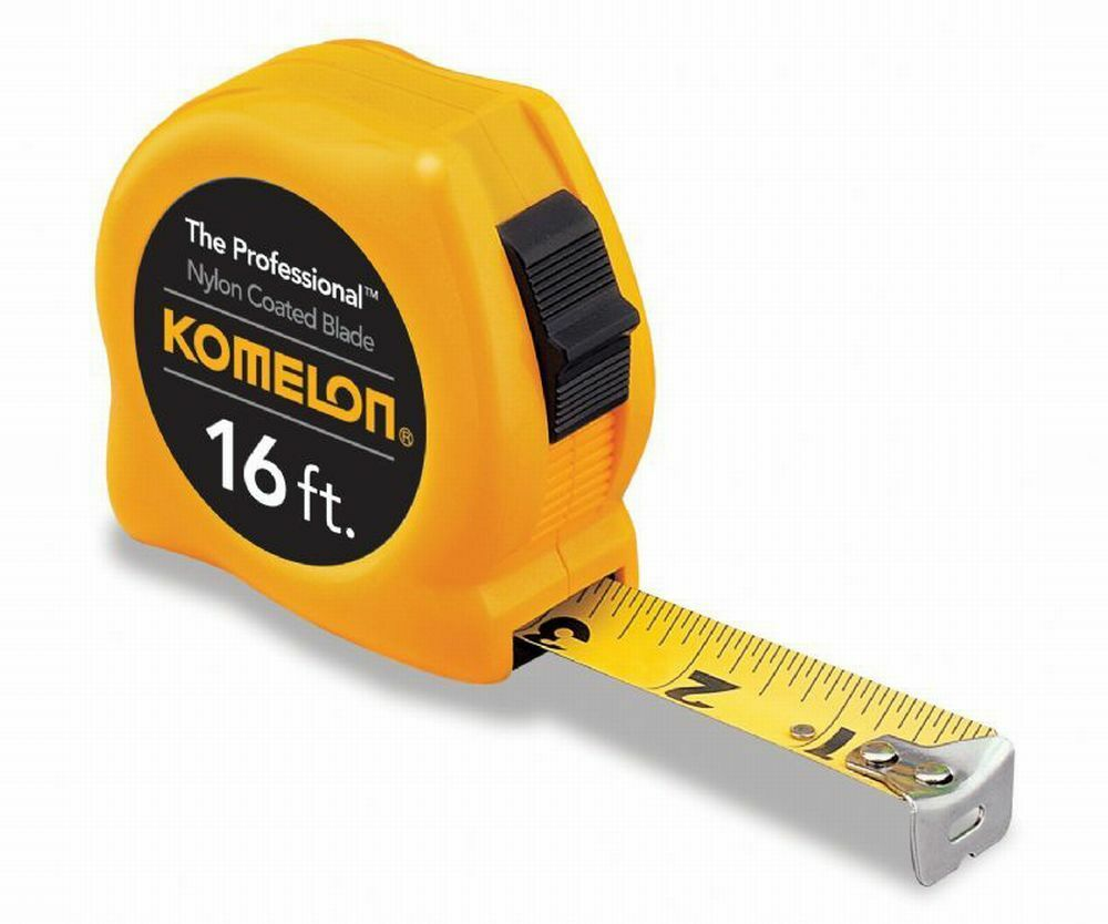 Made To Measure From 4 16: Komelon 4916 16ft. X 3/4in. The Professional Tape Measure