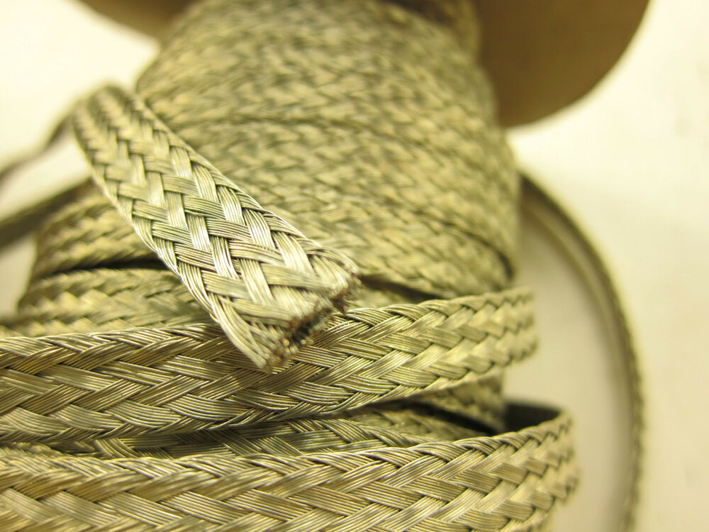 10 8 Awg Gauge 3 8 Quot X 090 Quot Braided Flat Grounding Strap