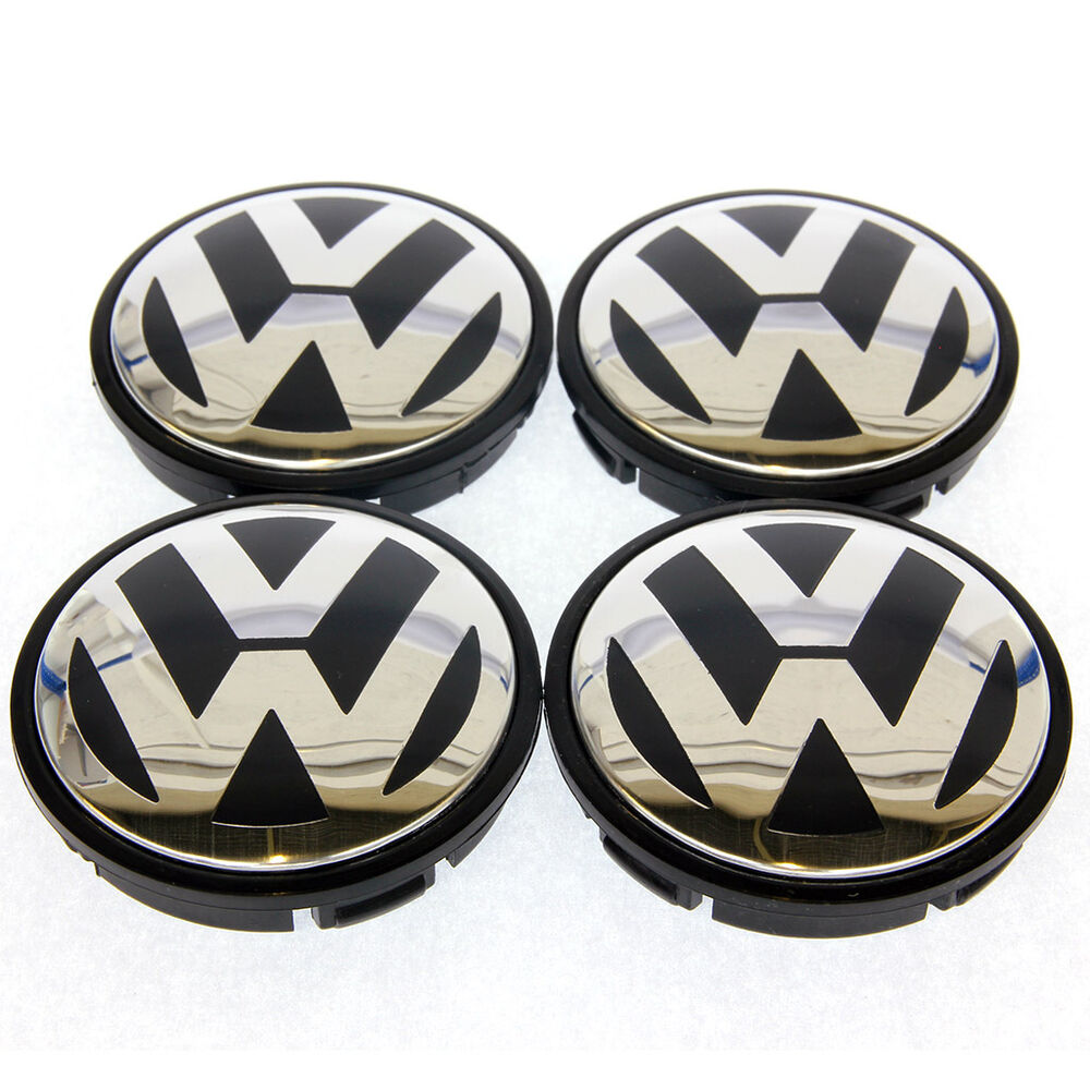 New 4x 55mm Vw Volkswagen Wheel Centre Caps To Fit Golf Polo Gti Lupo Passat Ebay