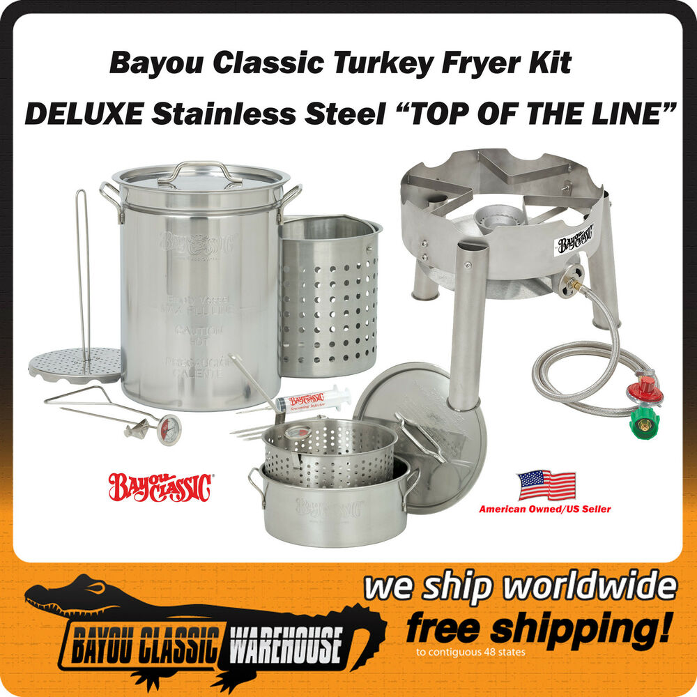 Stainless Steel Commercial Grade Turkey Fryer Complete Kit 32 Quart Top Quality
