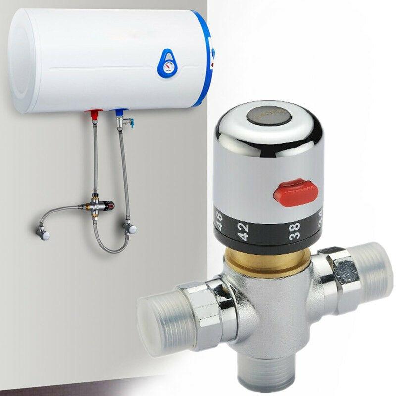 New copper thermostatic mixer mixing water shower solar for Copper in shower water