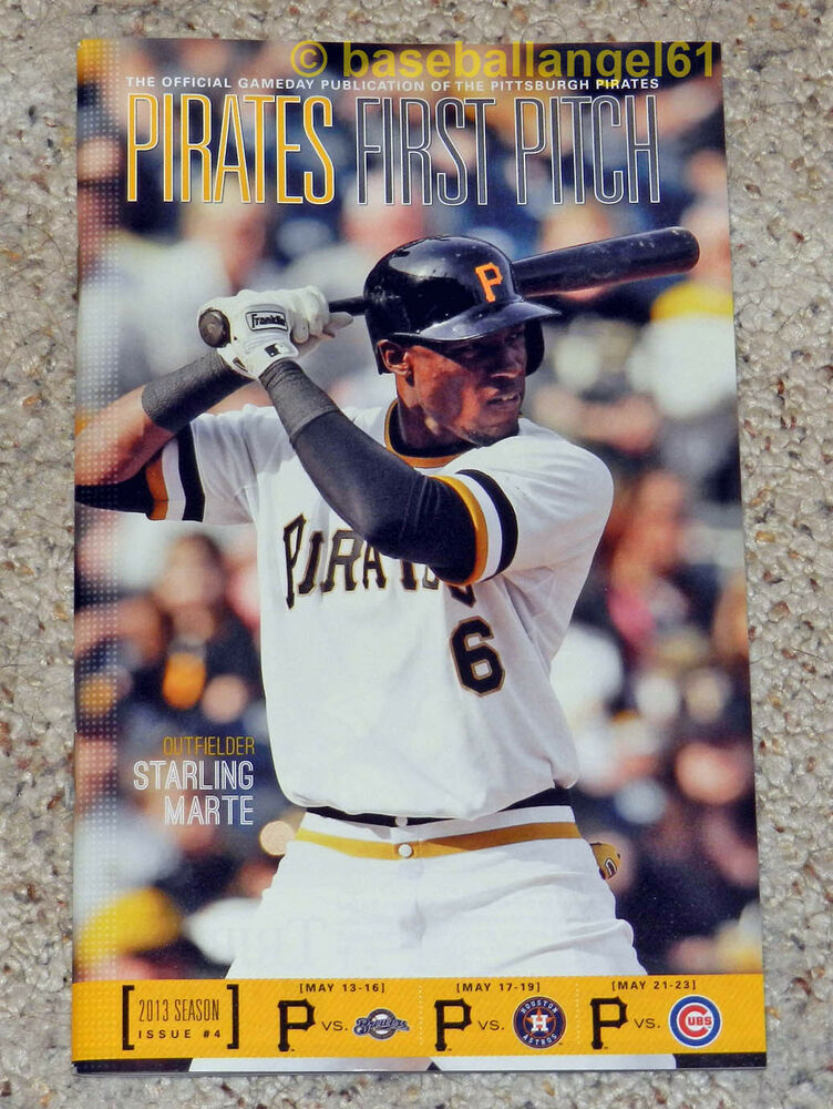 STARLING MARTE~2013 FIRST PITCH MAGAZINE~NEW~PITTSBURGH