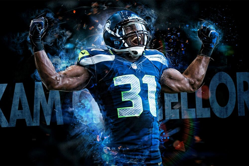 Seattle Seahawks Kam Chancellor 24 Quot X36 Quot High Glossy Photo
