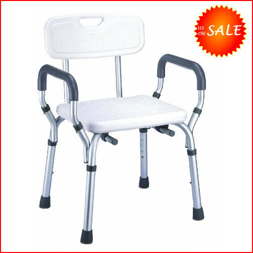 Safety Elderly Shower Chair Seat Bathroom Bench Toilet Stool Bath Tub Handica