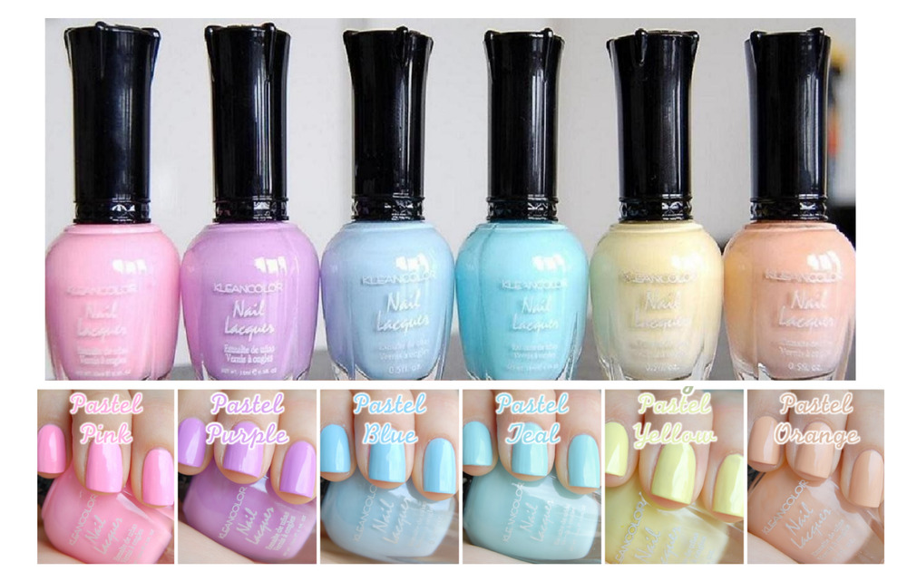 Kleancolor Nail Polish PASTEL Colors Lot of 6 Lacquer ...