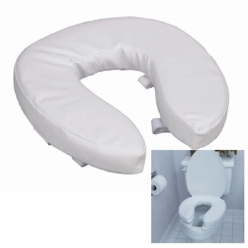 Raised Toilet Seat Cushion 2 Inch Foam Padded Vinyl Comfort 520 1246 1900 DMI