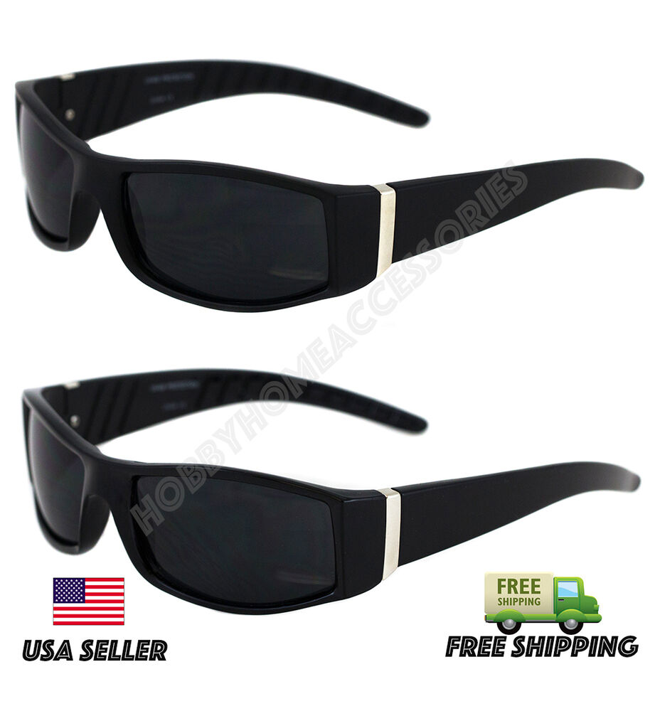MEN SUPER DARK LENS SQUARE FRAME GANGSTER BLACK OG ...