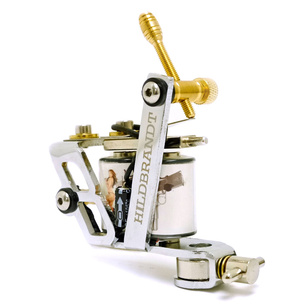 Hildbrandt 444 marlin tattoo machine 10 wrap shader tatoo for Tattoo gun parts