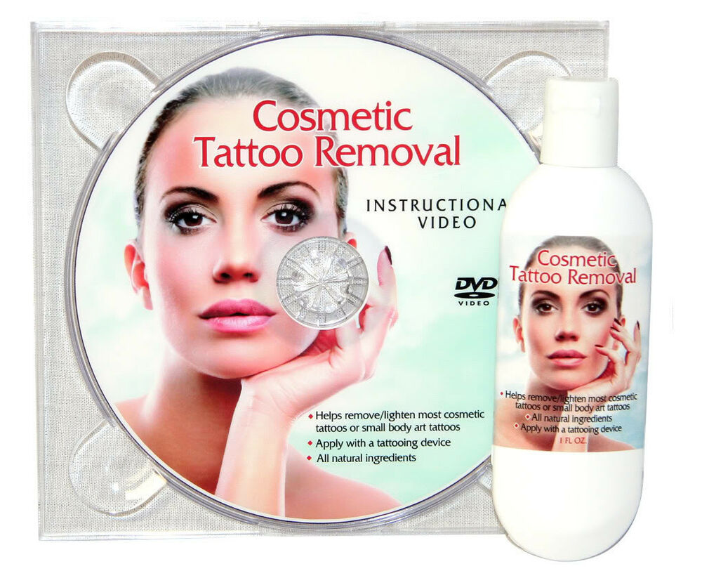 Tattoo Removal Cream Natural Permanent Makeup with DVD Instructions ...
