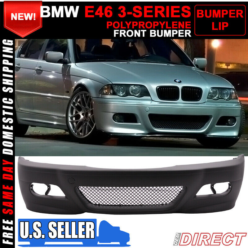 99 05 bmw e46 3 series sedan 4 door m3 style front bumper conversion pp ebay. Black Bedroom Furniture Sets. Home Design Ideas