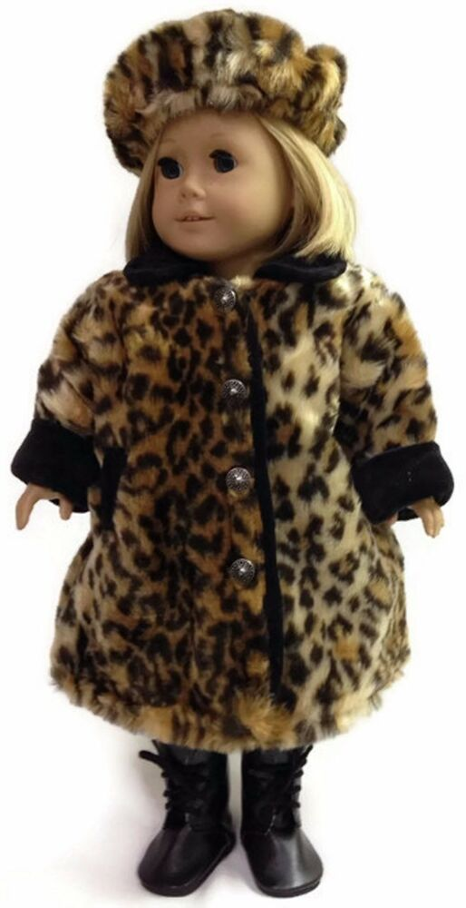 Leopard Print Fur Coat Amp Hat Made For 18 Quot American Girl