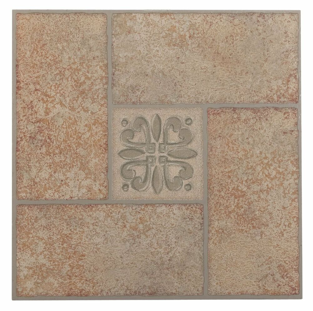 "NEXUS Beige Terracotta Motif Center 12"" X 12"" Self"