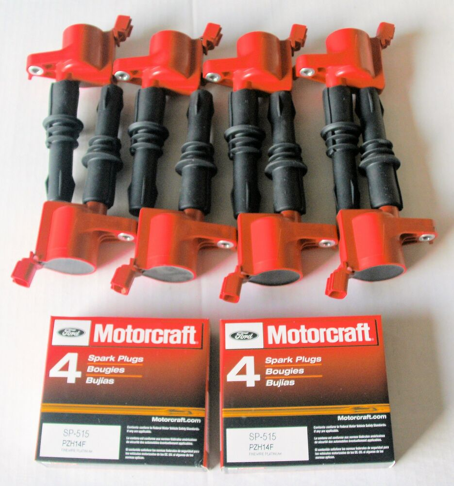 2004 Ford F150 5 4l 8 Ignition Coils Heavy Duty Red  8