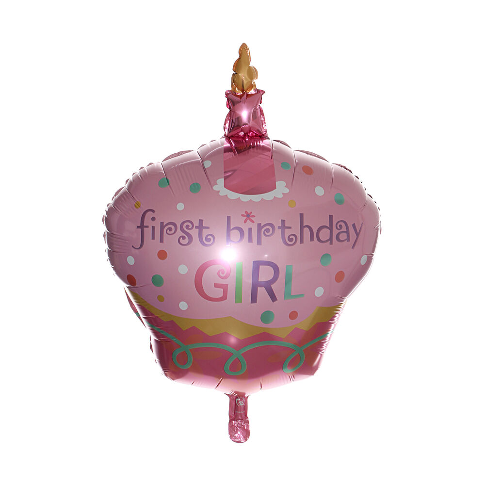 32 cake foil balloon party first birthday girl 1st baby for Balloon decoration for 1st birthday party