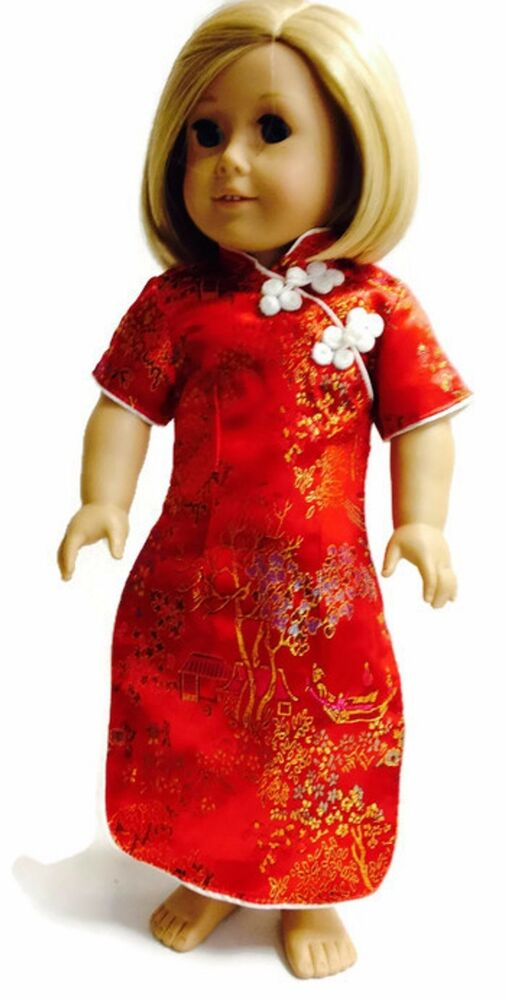 red asian dress made for 18 american girl doll clothes ebay