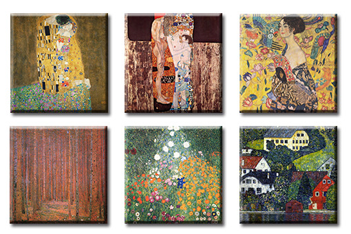 time4bild gustav klimt der kuss tannenwald bilder leinwand giclee art kunst ebay. Black Bedroom Furniture Sets. Home Design Ideas