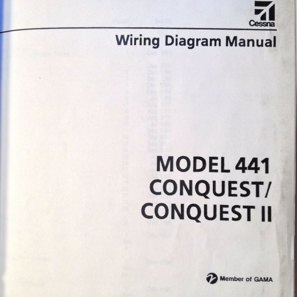 cessna conquest and conquest ii model 441 wiring diagram manual