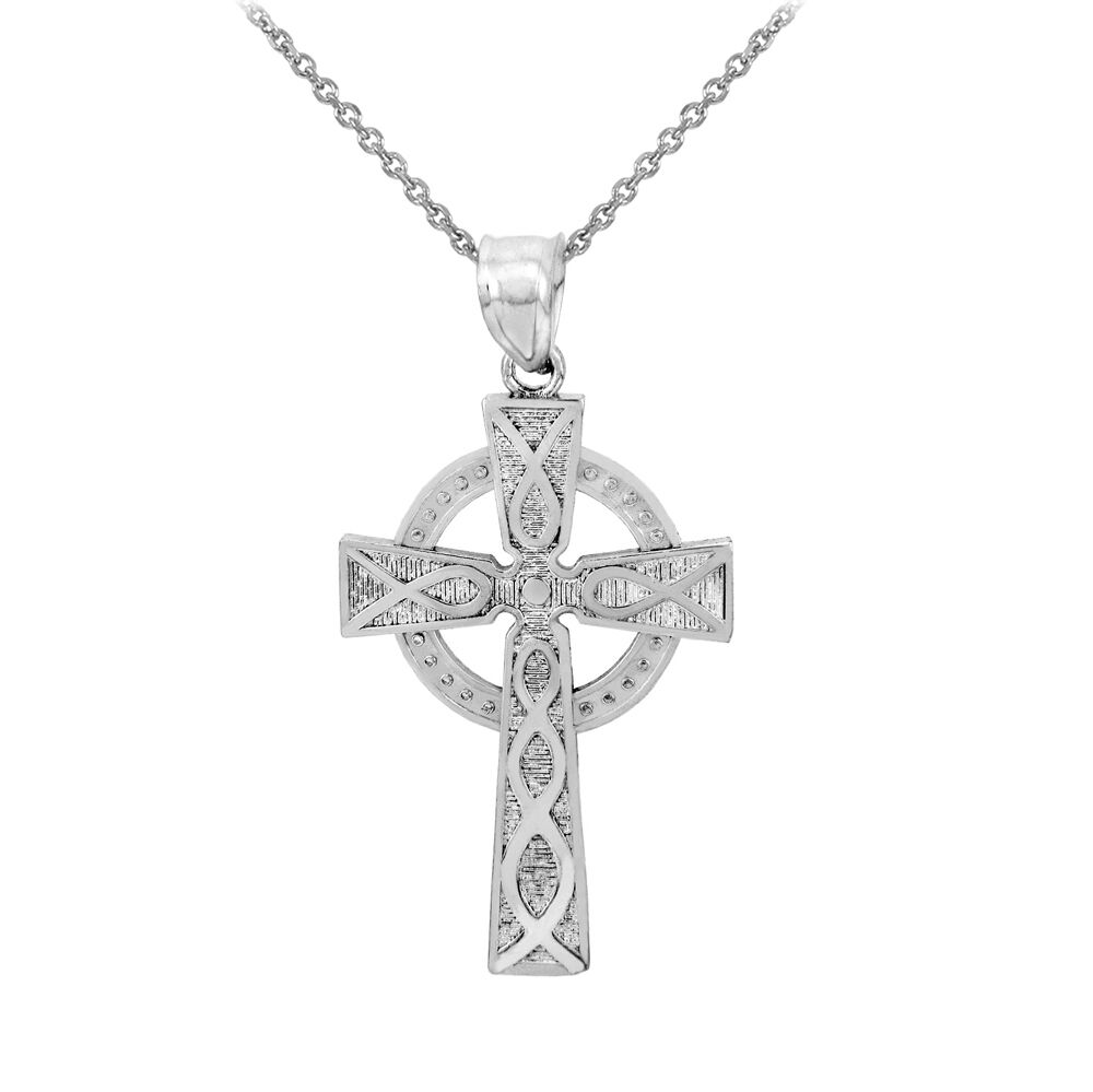sterling silver trinity cross pendant necklace ebay. Black Bedroom Furniture Sets. Home Design Ideas