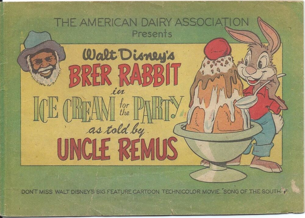brer rabbit ice cream party uncle remus rare giveaway promo dairy