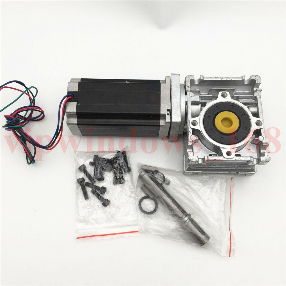 2ph stepper motor nema23 l76mm worm ratio 30 1 gearbox for Stepper motor gear box