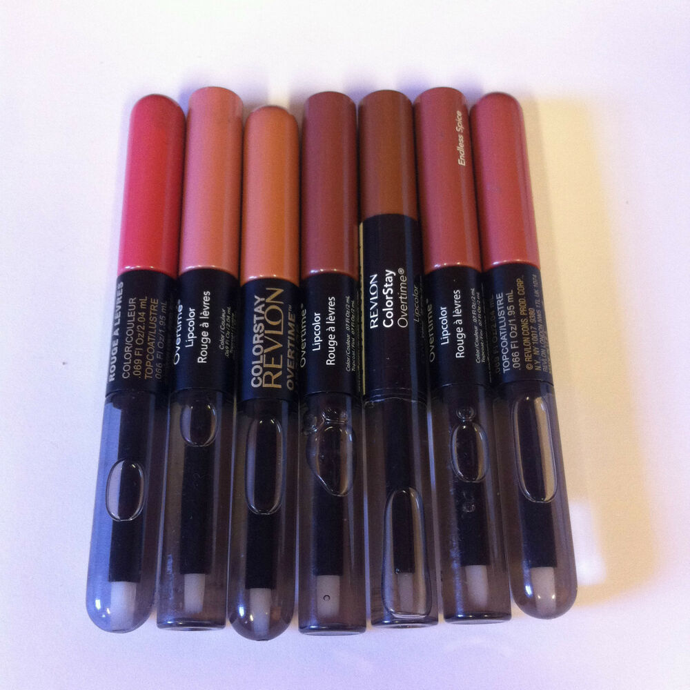 Revlon Colorstay Overtime Lipcolor Lipgloss Choose Shade