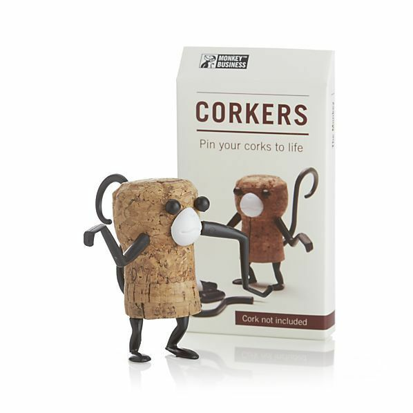 Corkers Animal Monkey Fun Diy Wine Bottle Cork Puzzle Gift