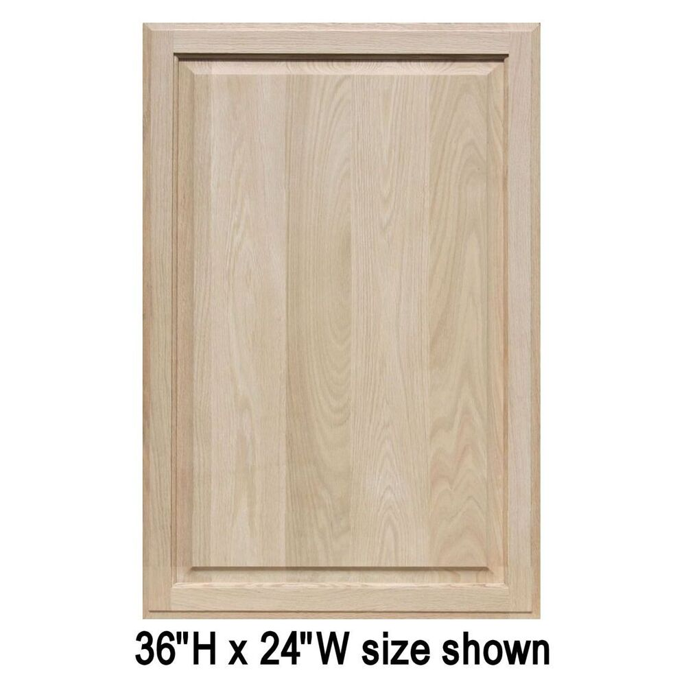 Unfinished Oak Cabinet Doors Square With Raised Panel By