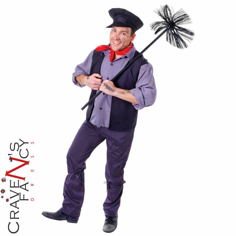 Adult Chimney Sweep Costume Bert Fancy Dress Book Day Mens