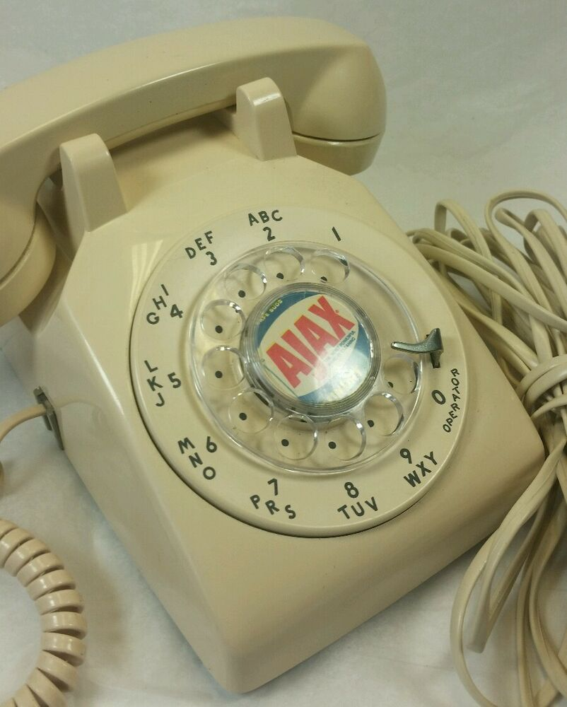 Unusual Logo Vtg Western Electric Bell 500 Rotary Phone