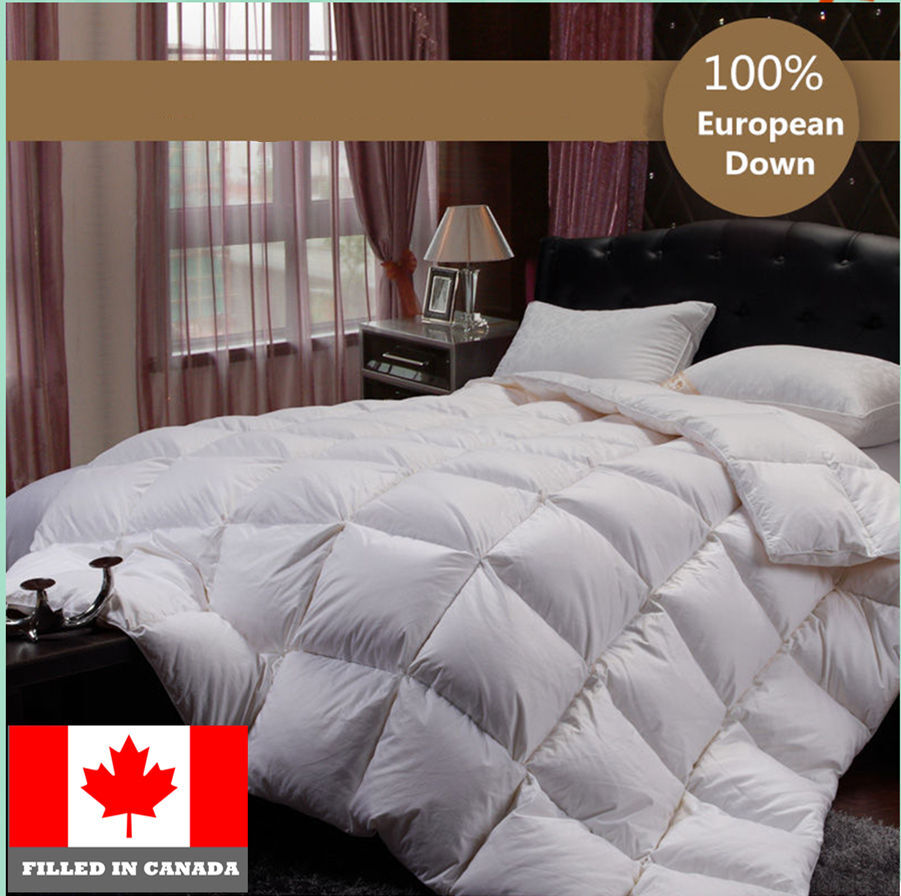 100 Cotton European White Down Duvet Comforter Canadian