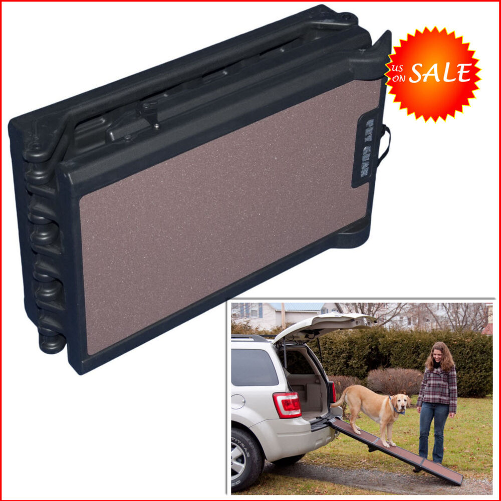 Portable Step For Truck : Folding portable long ramps pet gear dog doggie stairs