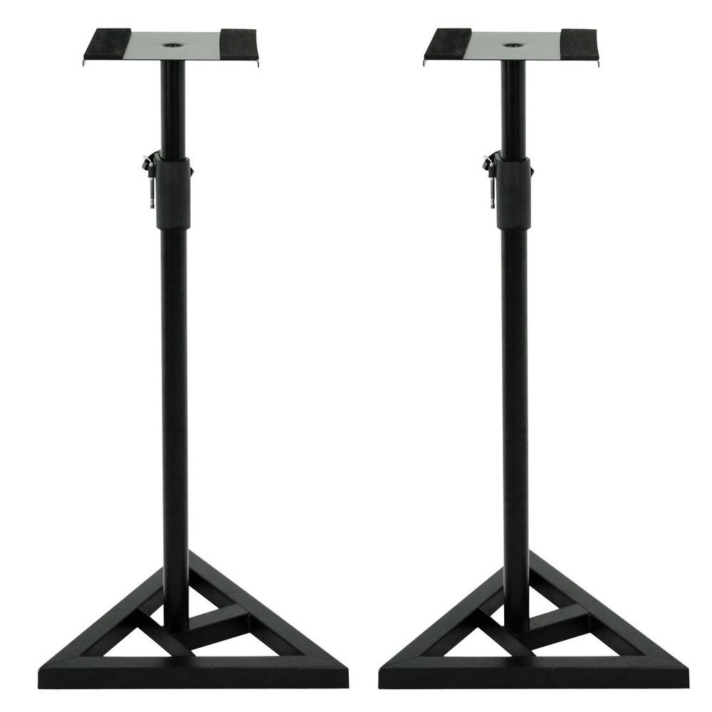 studio monitor speaker stand height adjustable concert band heavy duty 2 pair 700161261349 ebay. Black Bedroom Furniture Sets. Home Design Ideas