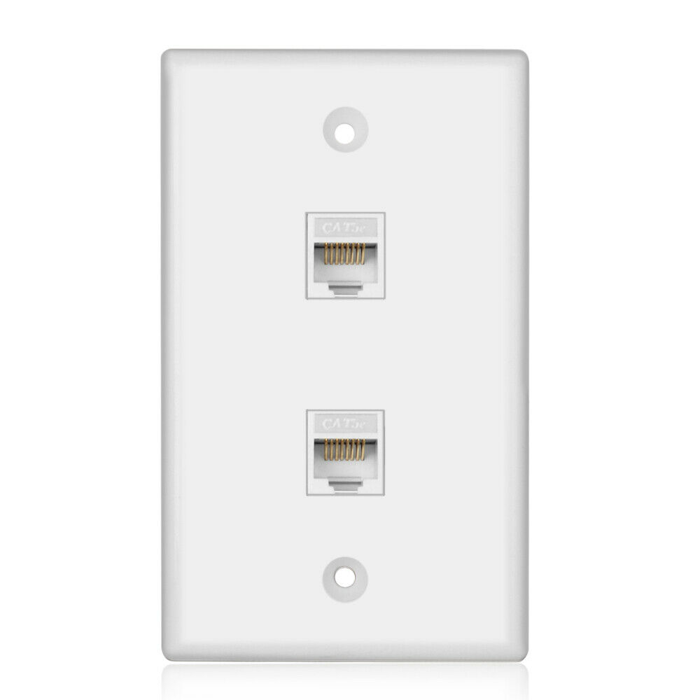Wiring Rj45 Wall Plate Everything About Diagram Network 2 Port Cat5e Ethernet Female