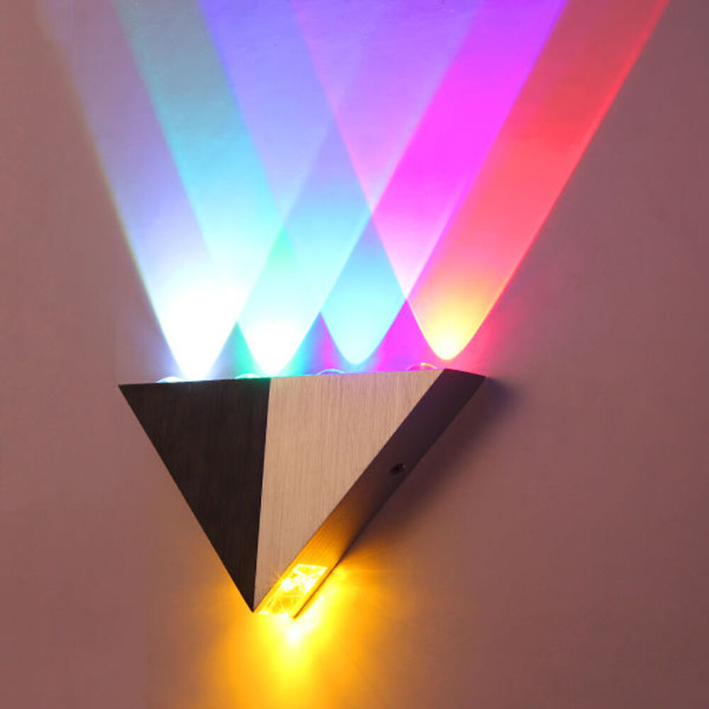 NEW Multi-Color 5W LED Wall Sconce Light Up & Down Indoor
