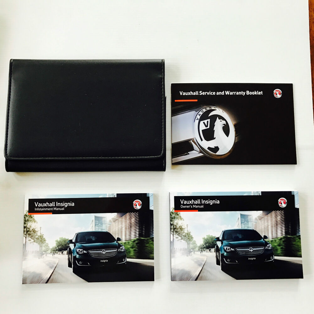 Details about VAUXHALL INSIGNIA OWNERS MANUAL HANDBOOK PACK + NEW BLANK  SERVICE BOOK From 2012
