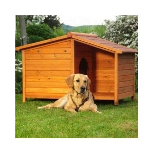Wooden Dog Kennel Warm Winter House Weather Proof Shelter