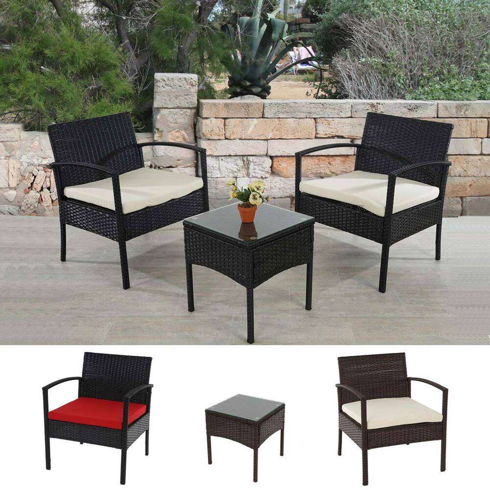 poly rattan garten garnitur rimini lounge set anthrazit braun meliert ebay. Black Bedroom Furniture Sets. Home Design Ideas