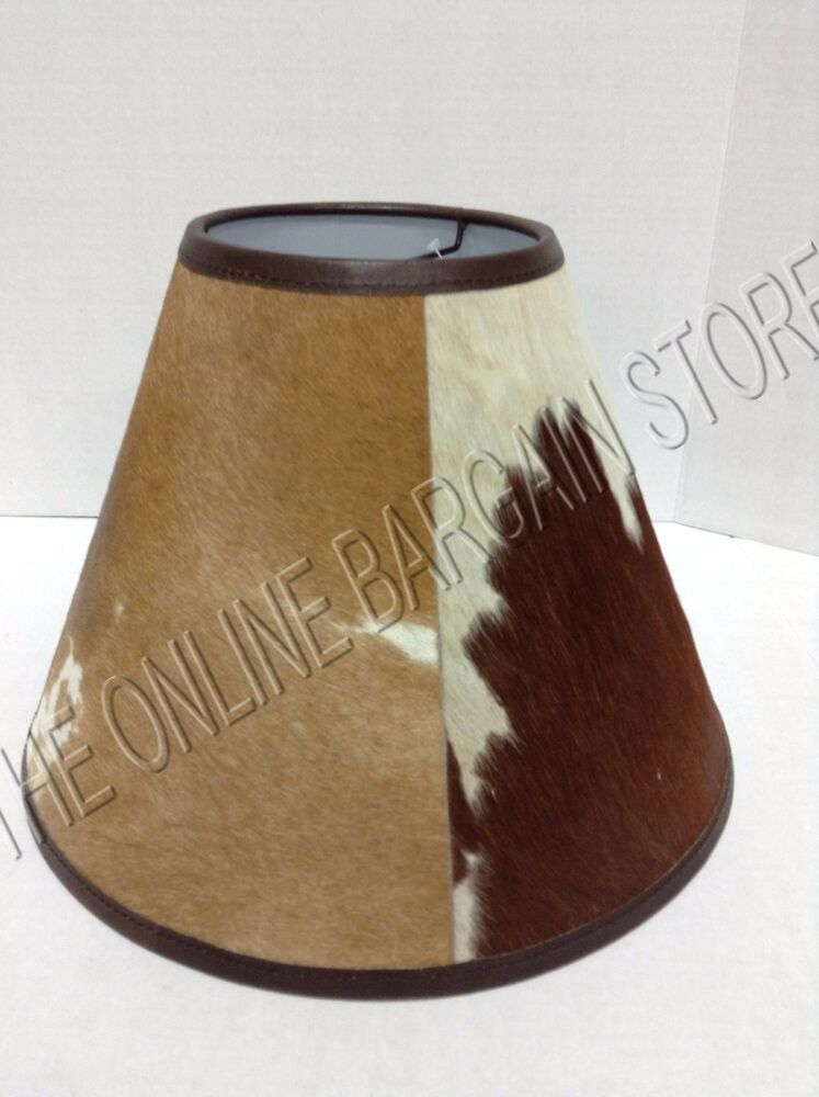 Pottery Barn Rustic Cabin Country Basic Cowhide Lamp Light