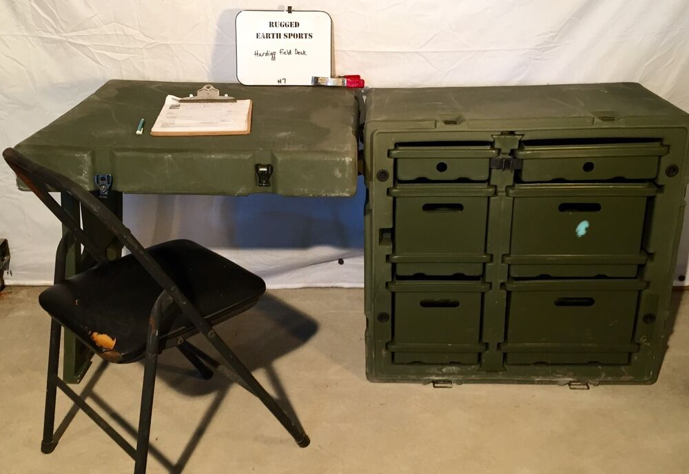 Pelican Hardigg Portable Military Field Desk Usgi Army